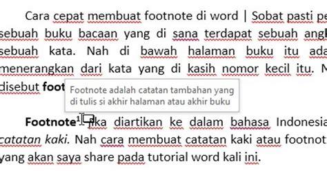 membuat catatan kaki cara cepat membuat footnote atau catatan kaki di word
