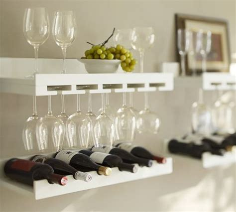 Shelf Of Opened White Wine by Holman Entertaining Shelves Pottery Barn Kitchens