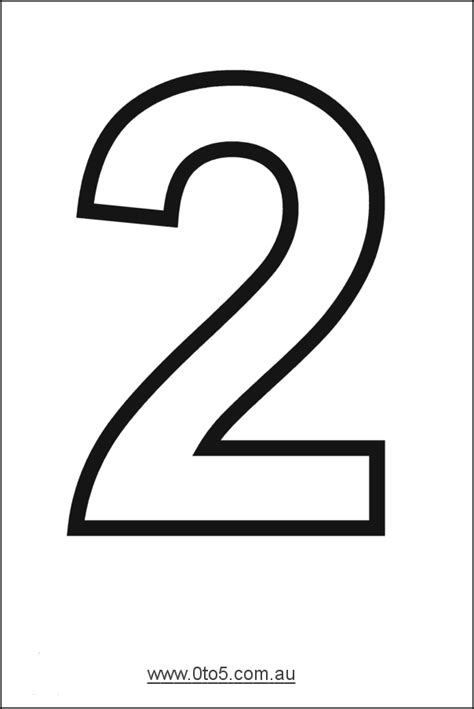 number template number two printable template αριθμοι