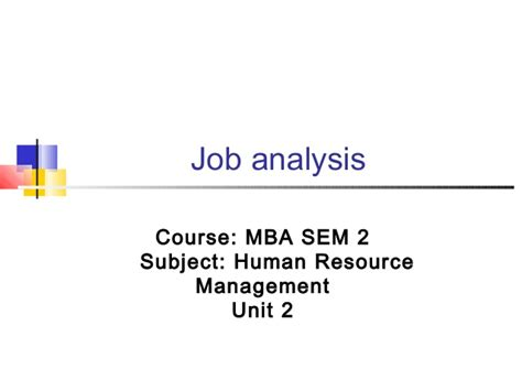 How Many Subject In Mba Course by Mba Ii Hrm U 2 2 Analysis