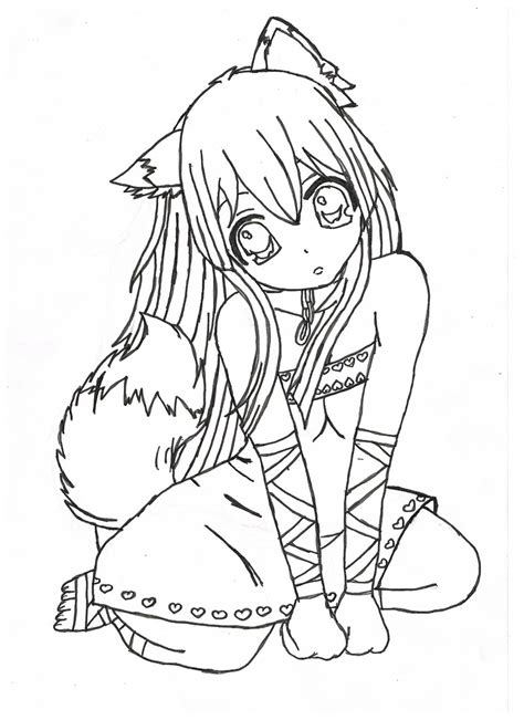 printable coloring pages of a girl nice brilliant anime girl coloring pages free coloring