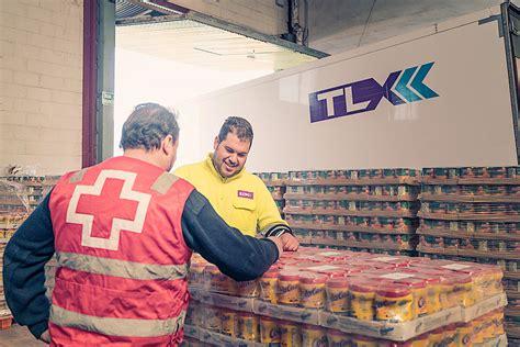 tlx ayuda  cruz roja  al banco de alimentos en la distribucion de alimentos