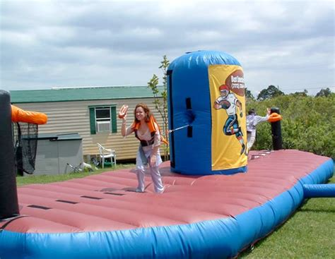 Backyard Wedding Party Ideas Bungee Challenge Inflatable Game Rental Iowa City Amp Cr Ia