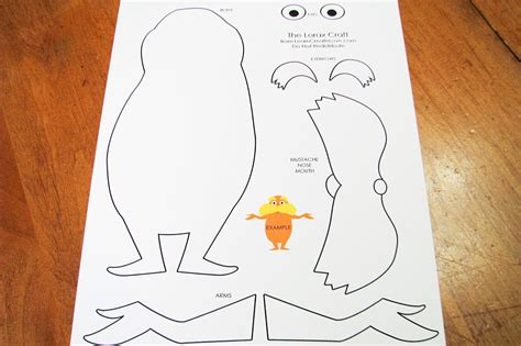 lorax mustache template 7 best images of printable lorax crafts free printable