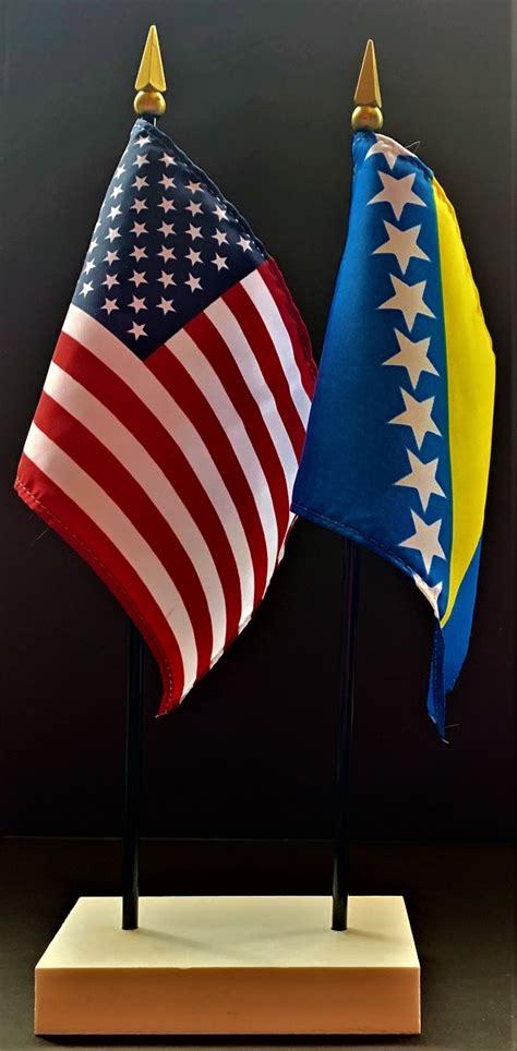 bosnia   flag desk set bosnia herzegovina