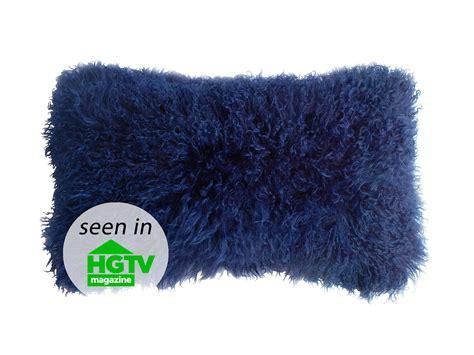 Lambskin Pillow by Fibre By Auskin Tibetan Lambskin Curly Fur Kidney Pillows