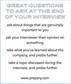 what is an ask best questions to ask at the end of an interview the