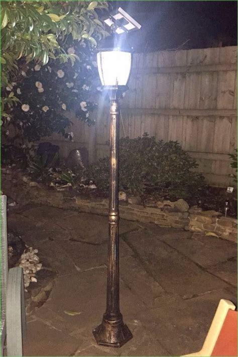 solar led l post outdoor fixture garden solar yard pillar light post l