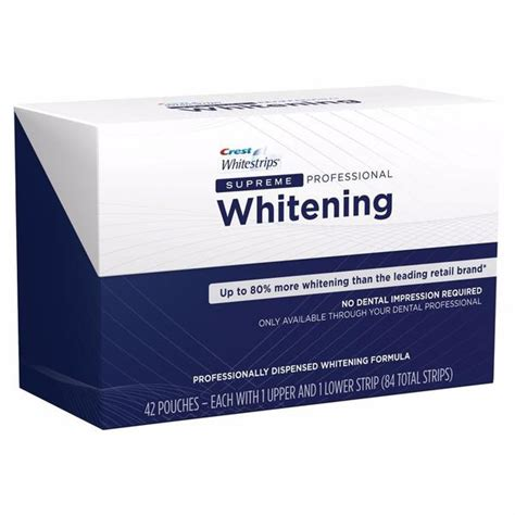 crest whitestrips supreme teeth whitening  sold