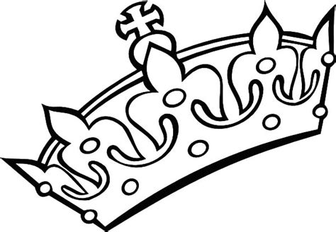 coloring page crown crown coloring pages clipart best