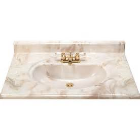 Cultured Marble Vanity Top With Integral Sink Shop Style Selections Caramel Cultured Marble Integral