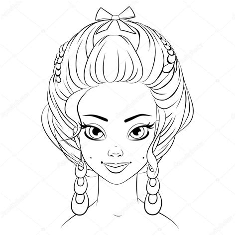 cute hairstyles vector fashion girl woman vector cute hairstyle lineart