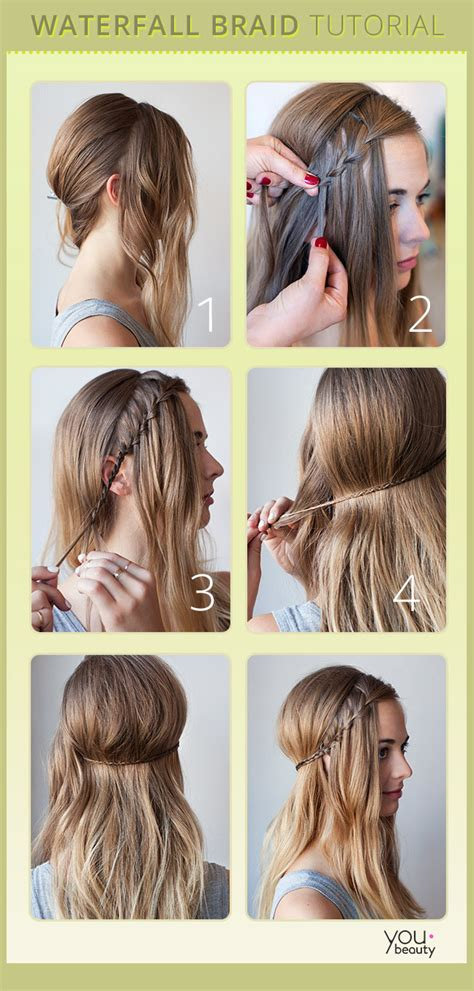 cool easy step hairstyles waterfall braid chic not cheesy youbeauty com