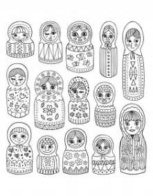 russian dolls coloring pages for adults justcolor