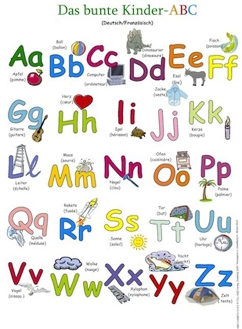 a b c to z in french posters for start of school