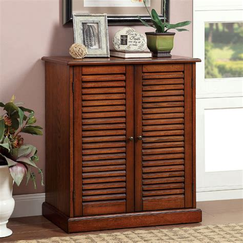 Cabinet Shoe Rack della oak finish wood louver design doors adjustable shelves shoe rack cabinet ebay