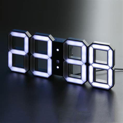 Led Digital Clock digital led clock white white kibardindesign touch of modern