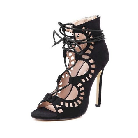 gladiator sandals that cover toes new trendy high heel sandals peep toe sandals