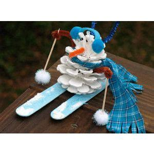 2nd grade ornaments diy pinecone skiing snowman ornament 2nd grade misc pinecone snowman and ornament