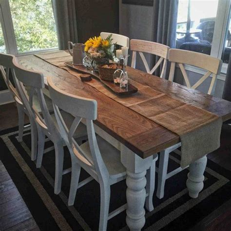 Oak And White Kitchen Table Custom White Oak Farmhouse Table Farmhouse Table White Oak And Remodeled Kitchens