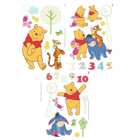winnie the pooh wall stickers winnie the pooh sticks 66 wall stickers new official ebay