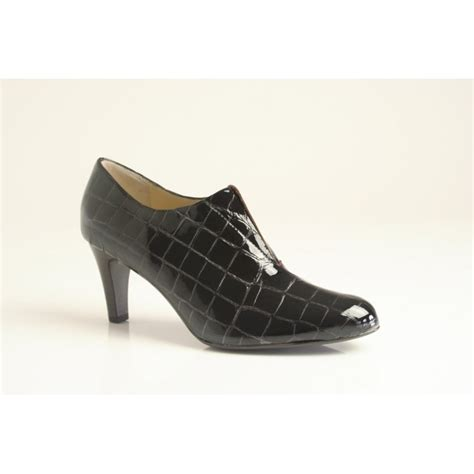 cut shoes for kaiser hawa high cut shoe in brown patent croc print
