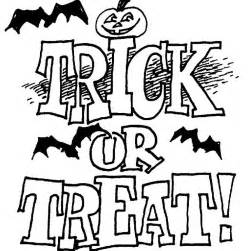 Trick Or Treat Coloring Page sketch template