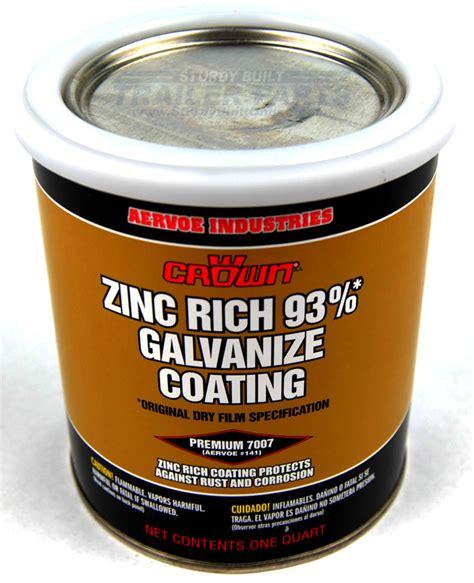 Painting Zinc by 1 Quart Zinc Rich Cold Galvanized Paint