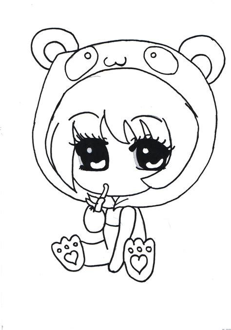 chibi panda coloring pages cute panda chibi girl outlined by x xanimenerdx x on