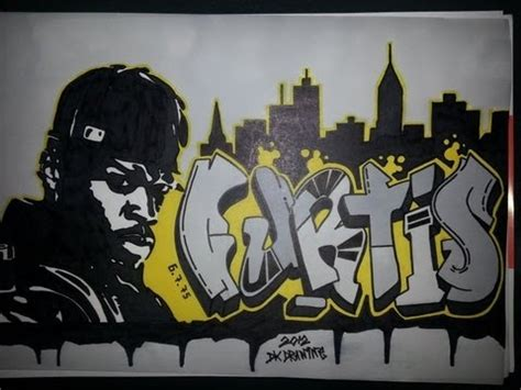 cent graffiti letters stencil drawing curtis