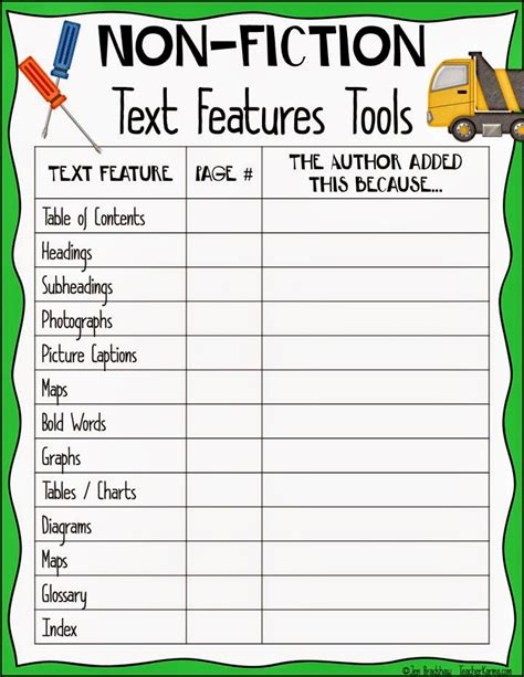 html non printable text classroom freebies too nonfiction freebie using text