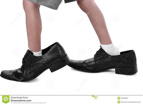shoes for with big in a big shoes stock photo image of crop