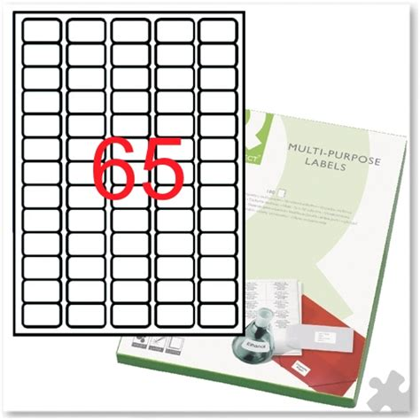 label template 65 per sheet multi purpose labels 65 per sheet kf01130 163 24 99