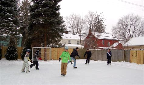 easy backyard ice rink backyard hockey rinks from simple to elaborate the