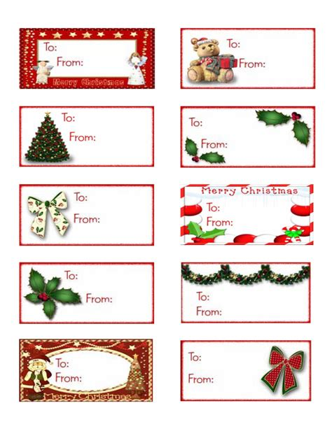 printable christmas gift tags avery labels printable holiday gift tags christmas labels party pdf by