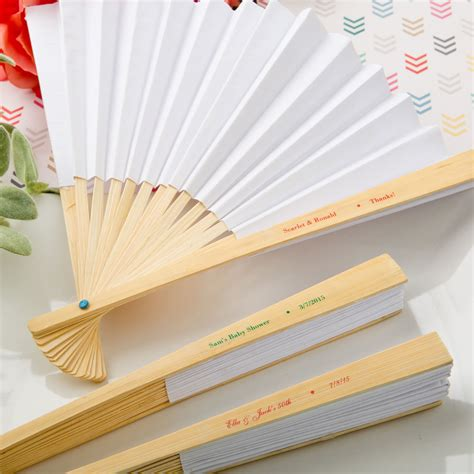 personalized folding fans for weddings elegant white paper folding fan wedding bliss baby kiss