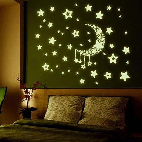 Glow In The Dark Moon Wall Sticker print stiker reviews online shopping print stiker