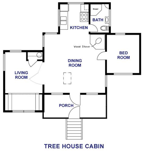 Treehouse Floor Plans by Sunset Lodge Damariscotta Lake Maine Vacation Rental