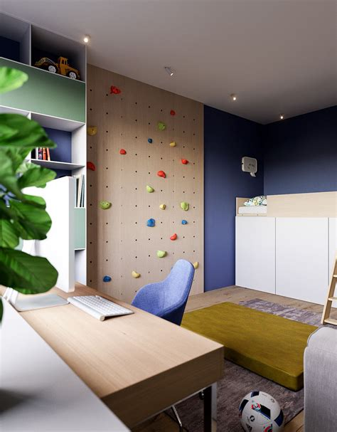 rock climbing bedroom home designing 3 modern minimalist apartments for young
