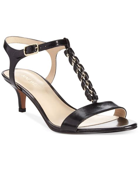 dress sandals nine west yocelin low heel dress sandals in black lyst