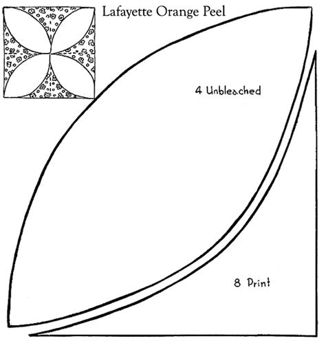 Orange Peel Quilt Block Pattern by Lafayette Orange Peel Patchwork Quilt Pattern Purple