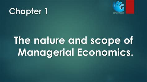 Managerial Economics Pdf For Mba Vtu by The Nature And Scope Of Managerial Economics Chapter 1