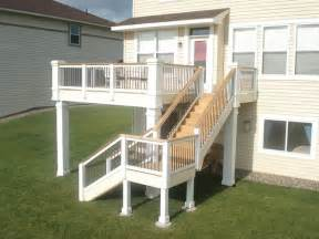 Second Floor Deck Plans by 2nd Floor Deck Stair Design