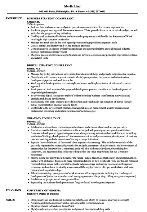 Consulting Resume Sle