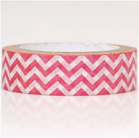Washitape Zigzag pink white zigzag washi masking deco washi masking deco stationery shop