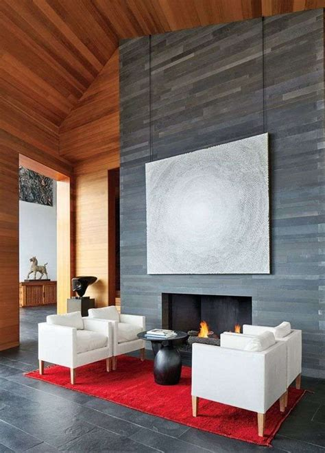 cheminee design moderne d 233 co chalet de montagne moderne ou traditionnelle