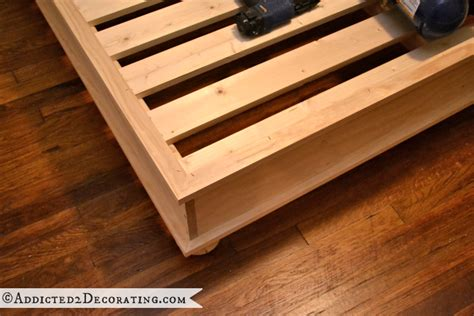 diy wood bed frame wood platform bed frame plans free wood project and diy