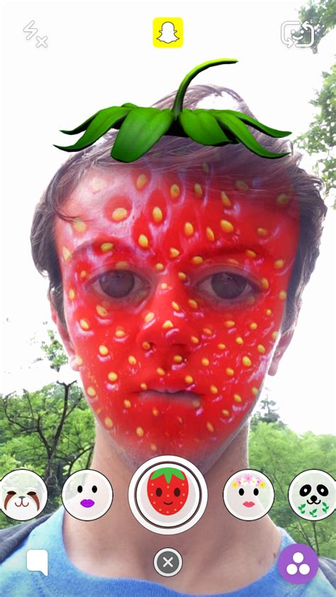 strawberry face shape strawberry head and face snapchat lens otlsm