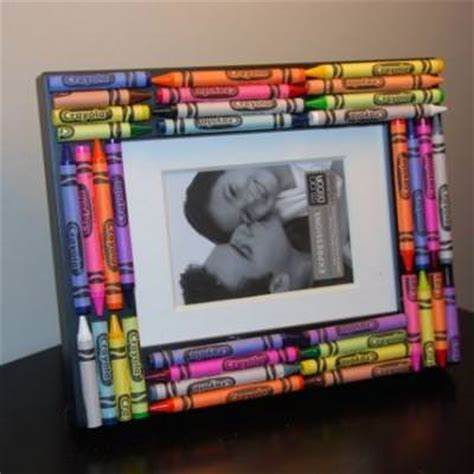 picture frame craft crayon picture frame crafts for tip junkie