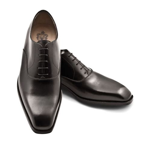 pineider s leather shoes black polished oxford